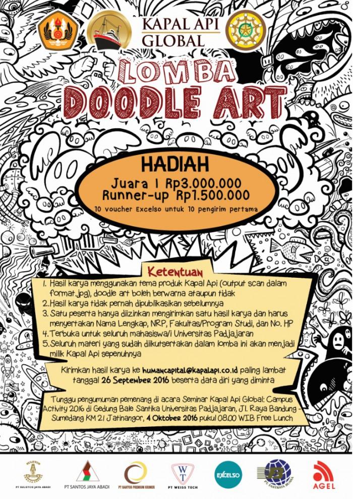 flyer lomba doodle art