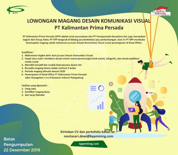 Pt Kalimantan Prima Persada Internship Ppk C D C Pusat Pengembangan Karir Unpad